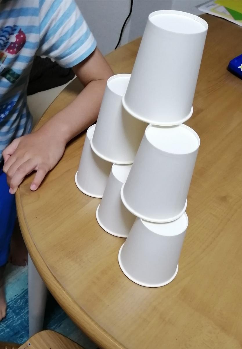 紙コップのピラミット