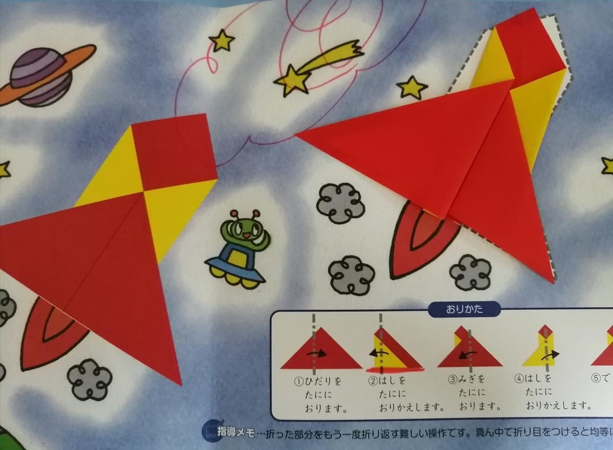 学研幼児教室の折り紙学習